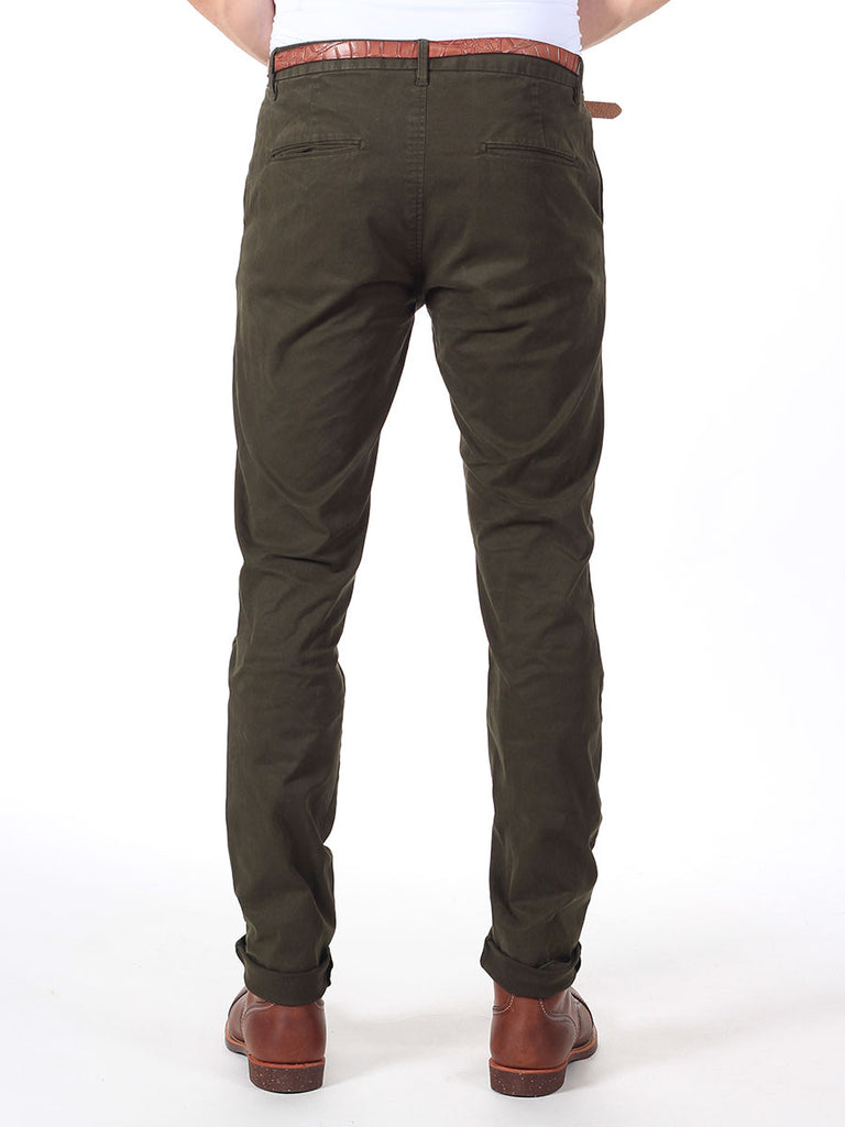 Scotch & Soda Slim-Fit Chino Pants in Olive  - 2