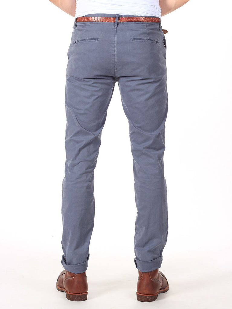 Scotch & Soda Stuart Slim-Fit Chino Pants in Dusty Blue  - 2