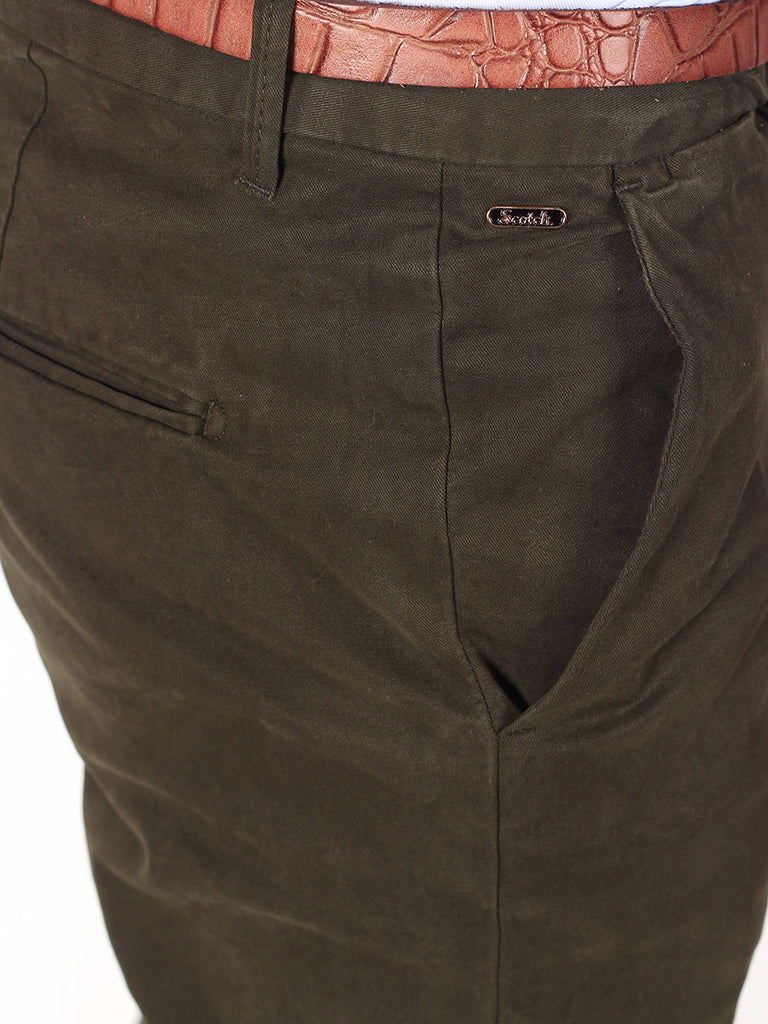 Scotch & Soda Slim-Fit Chino Pants in Olive  - 5