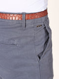 Scotch & Soda Stuart Slim-Fit Chino Pants in Dusty Blue  - 4