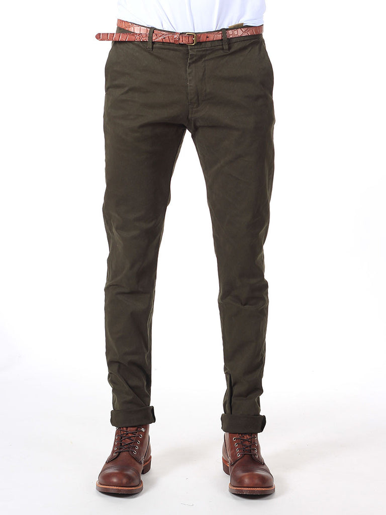 Scotch & Soda Slim-Fit Chino Pants in Olive  - 1