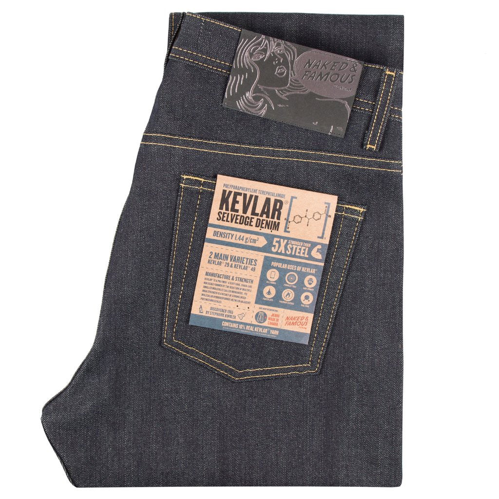 NAKED AND FAMOUS DENIM WEIRD GUY KEVLAR BLEND JEANS  - 1