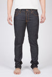 NUDIE GRIM TIM JEANS IN DRY NAVY RAW DENIM  - 2