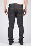 NUDIE GRIM TIM JEANS IN DRY NAVY RAW DENIM  - 3