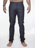 NUDIE THIN FINN JEAN IN ORGANIC DRY DARK GREY RAW DENIM  - 2