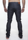 NUDIE THIN FINN JEAN IN ORGANIC DRY DARK GREY RAW DENIM  - 3