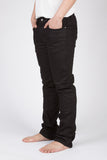 NUDIE THIN FINN SKINNY JEANS IN BLACK RING RAW DENIM  - 1