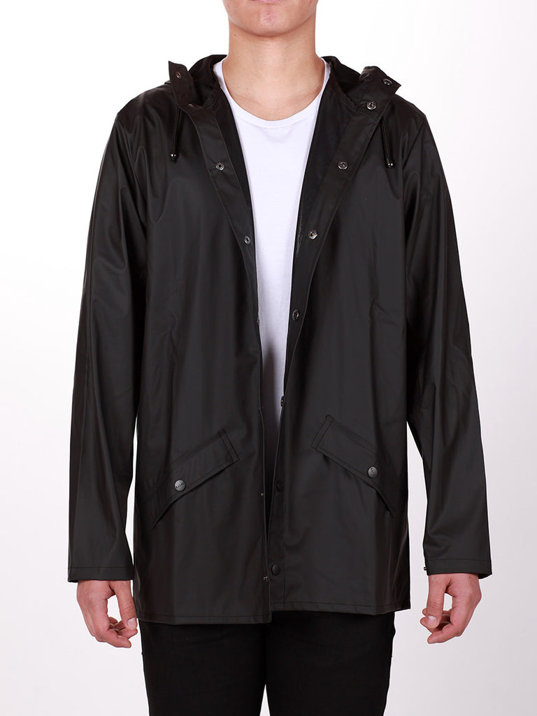 RAINS JACKET IN BLACK