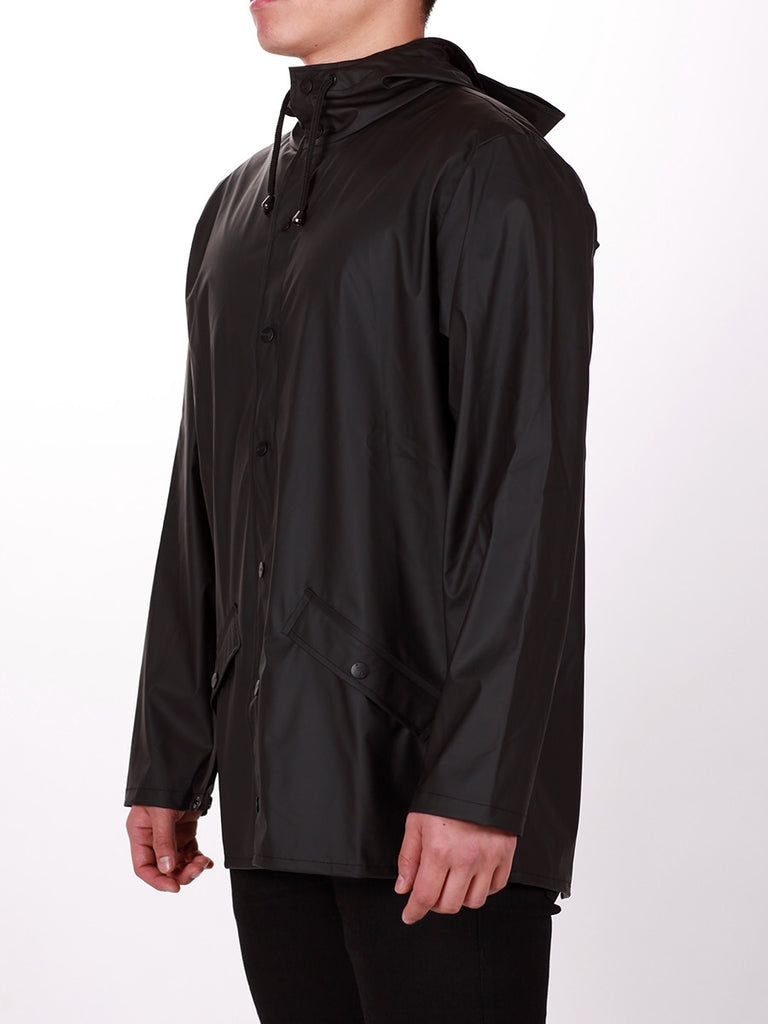 RAINS JACKET IN BLACK  - 3