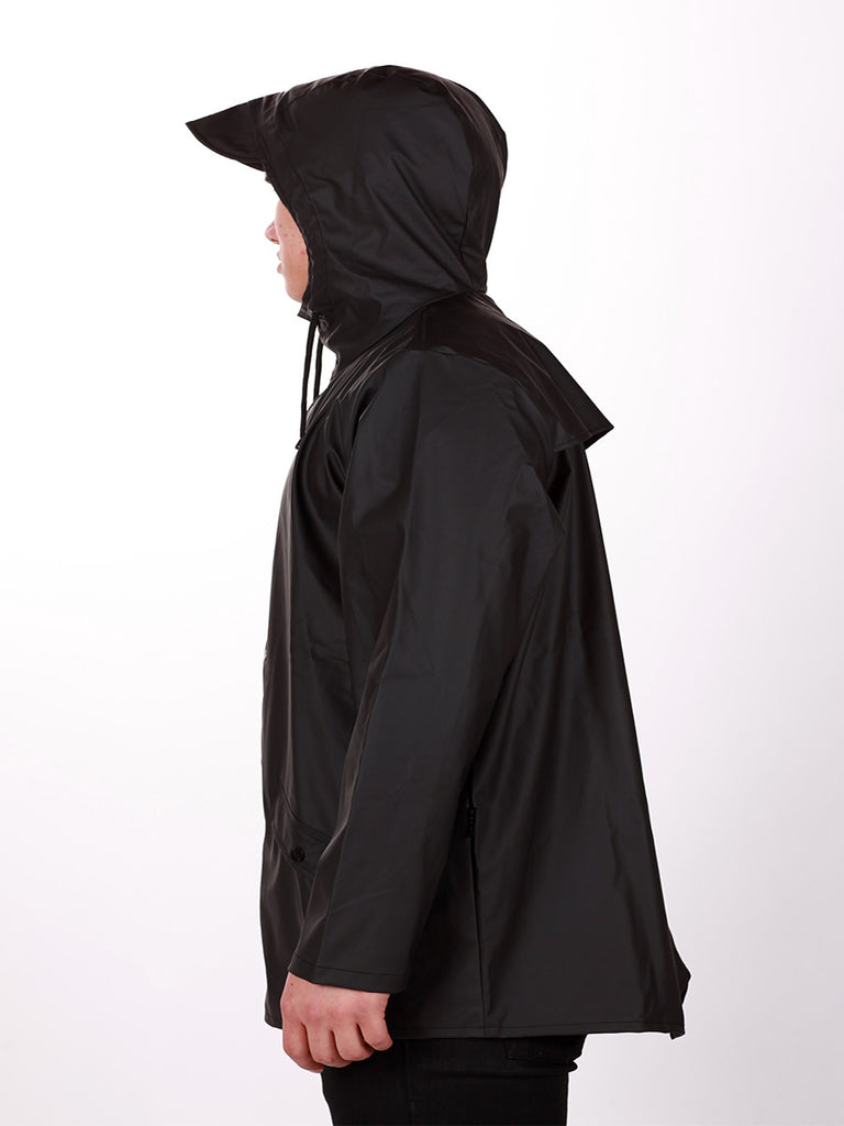 RAINS JACKET IN BLACK  - 4