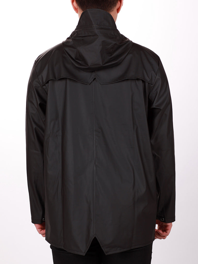 RAINS JACKET IN BLACK  - 5