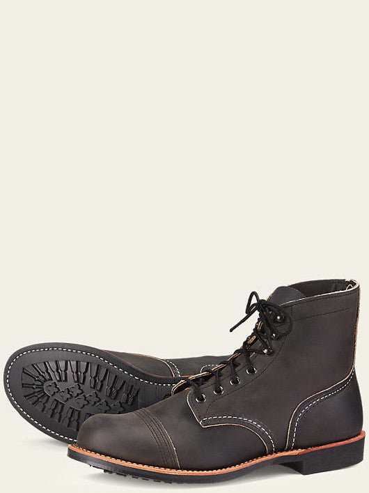 Red Wing Iron Ranger Boot in Charcoal with New Grip Sole