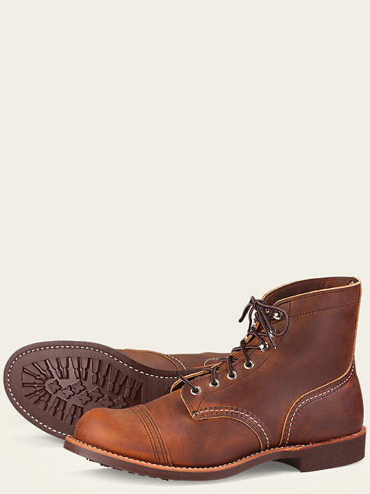 Red Wing Iron Ranger Boot in Copper Rough & Tough Leather With New Grip Sole