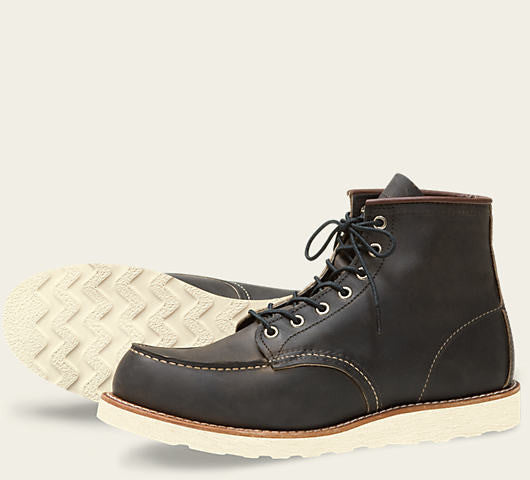 REDWING CLASSIC MOC BOOT IN CHARCOAL ROUGH AND TOUGH LEATHER