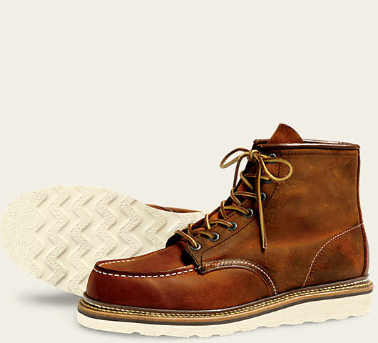 REDWING CLASSIC MOC BOOT IN COPPER ROUGH AND TOUGH LEATHER