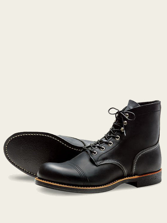 RED WING IRON RANGER BOOT IN BLACK HARNESS LEATHER