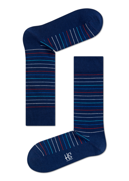 HS THIN STRIPE SOCK IN BLUE