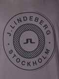 J Lindeberg Sev C Circle Snug Jersey T-Shirt in Rhino Grey  - 4
