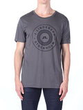 J Lindeberg Sev C Circle Snug Jersey T-Shirt in Rhino Grey  - 1