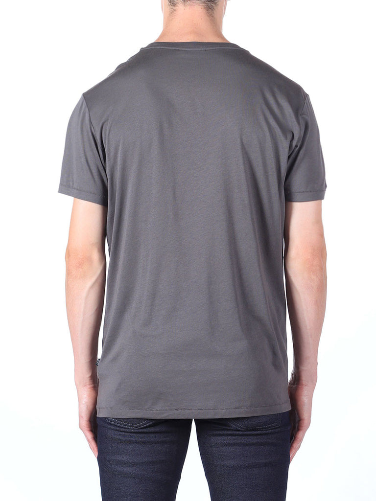 J Lindeberg Sev C Circle Snug Jersey T-Shirt in Rhino Grey  - 2