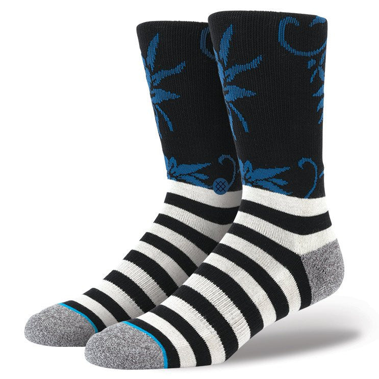 INSTANCE 'SMOOTHIE' ATHLETIC SOCKS IN FLORAL AND STRIPE PATTERN