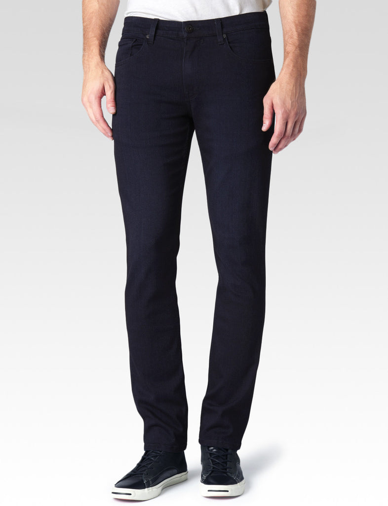 the best jeans brands and male fashion in vancouver at boysco - paige lennox skinny jeans in inkwell blue denim front