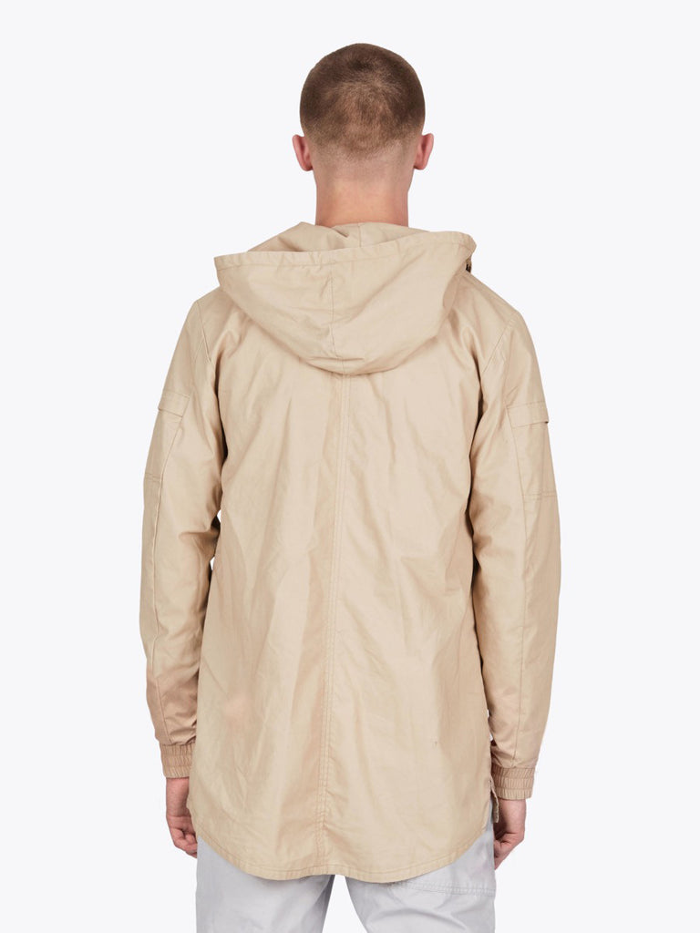 the best male fashion and streetwear style at boysco zanerobe shade anorak jacket in beige back