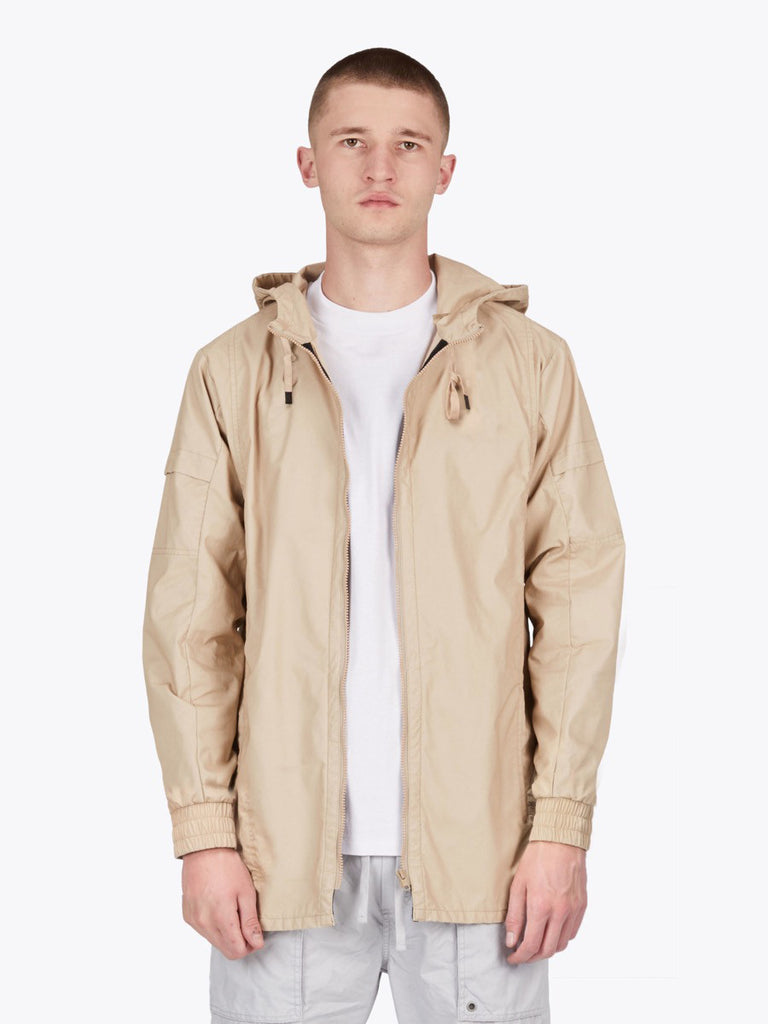 the best male fashion and streetwear style at boysco zanerobe shade anorak jacket in beige front