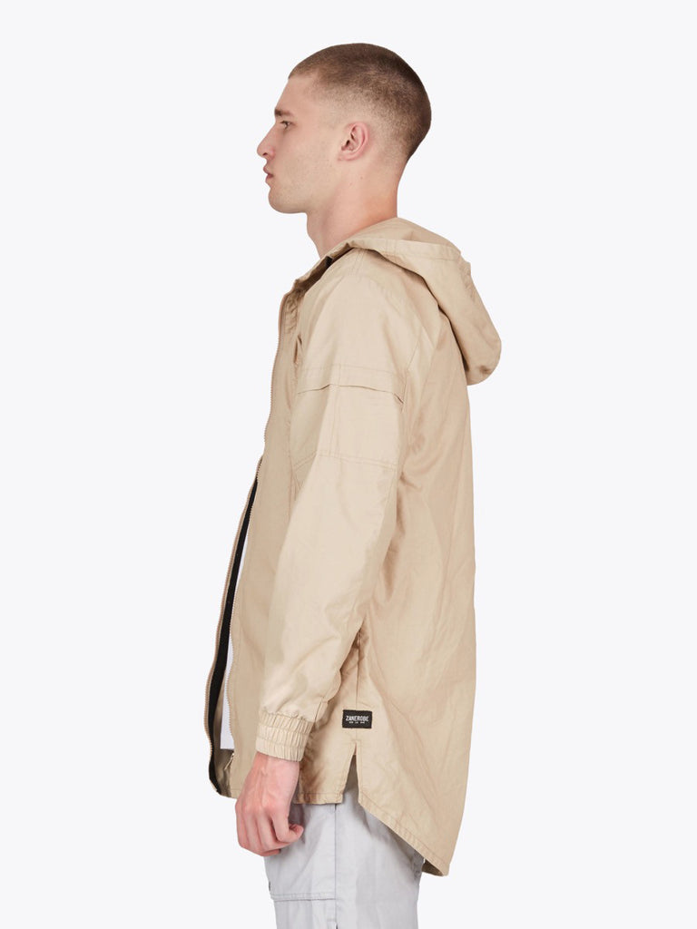 the best male fashion and streetwear style at boysco zanerobe shade anorak jacket in beige profile