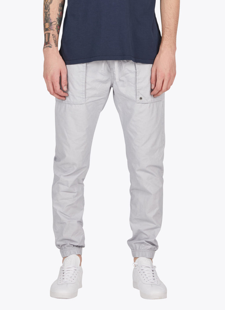the best male fashion and streetwear style at boysco zanerobe tracer cargo jogger pant in stone grey front
