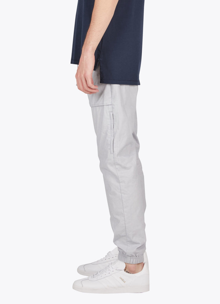 the best male fashion and streetwear style at boysco zanerobe tracer cargo jogger pant in stone grey profile