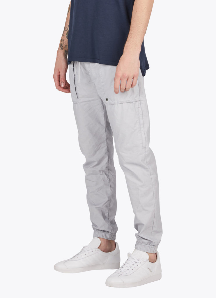 the best male fashion and streetwear style at boysco zanerobe tracer cargo jogger pant in stone grey side