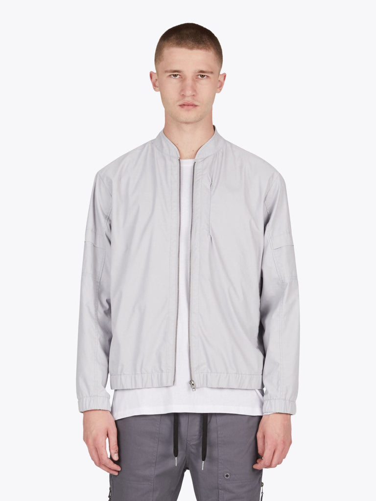 the best male fashion and streetwear style at boysco zanerobe trail bomber jacket in stone grey front