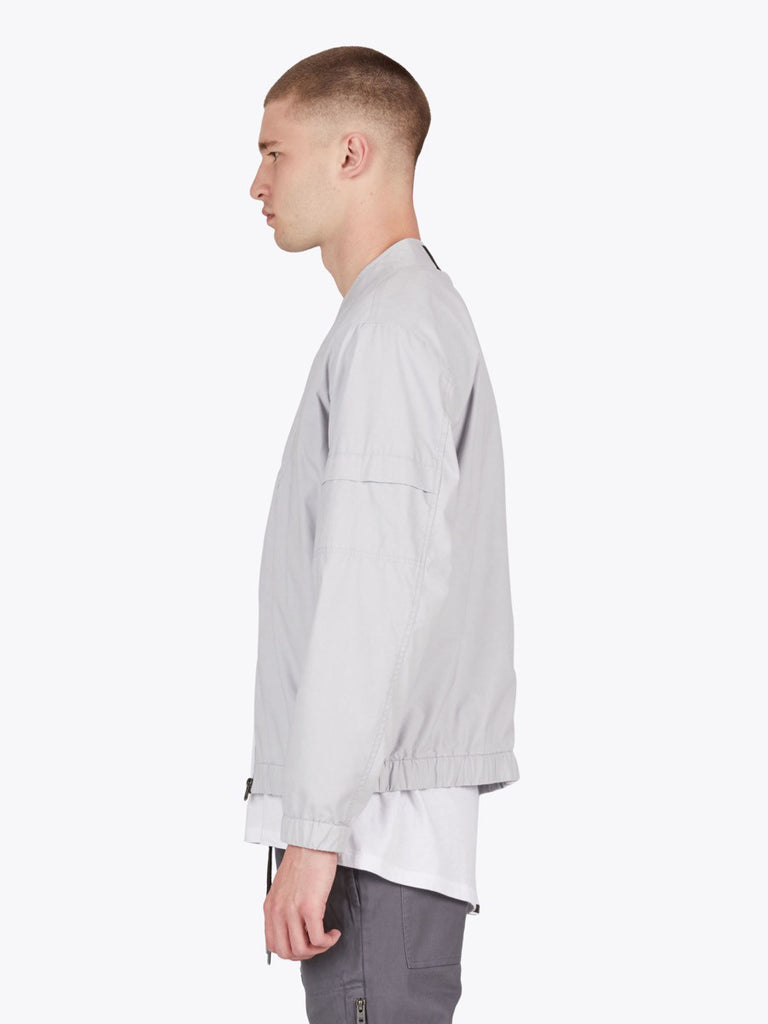 the best male fashion and streetwear style at boysco zanerobe trail bomber jacket in stone grey profile