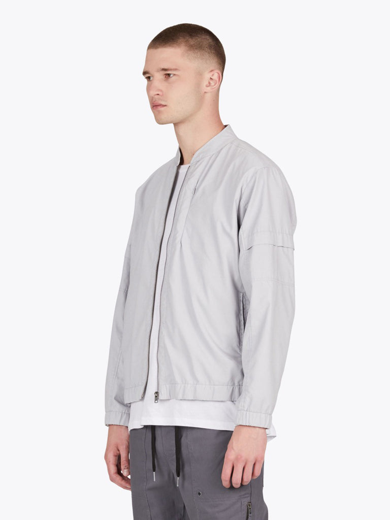 the best male fashion and streetwear style at boysco zanerobe trail bomber jacket in stone grey side