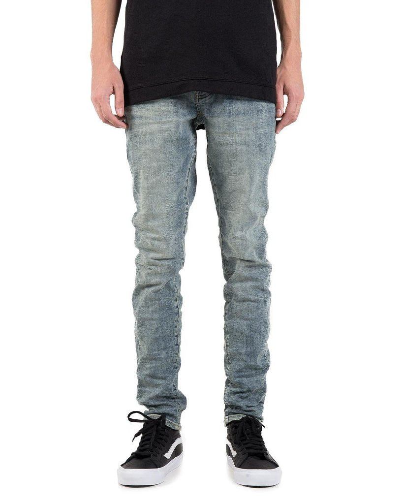 PURPLE 001 Slim Fit Denim Jeans in Light Wash Indigo
