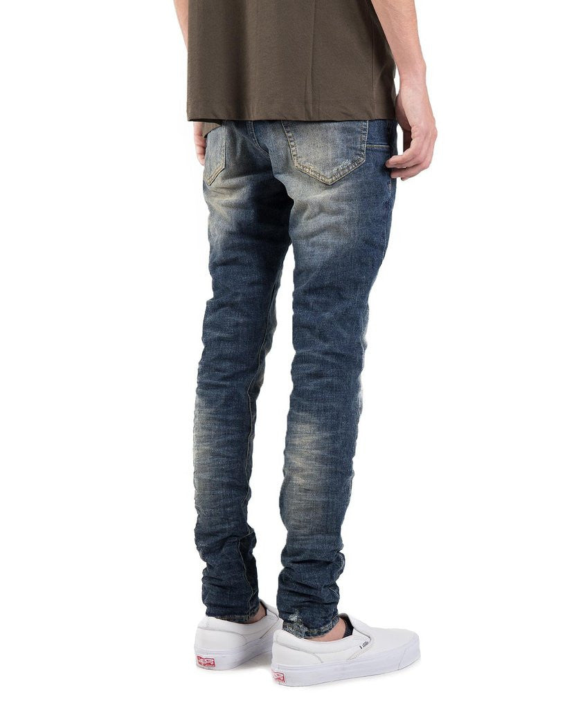 The Best Streetwear Brands and Luxury Urban Style in Vancouver PURPLE 001 Slim Fit Denim Jeans in Mid Blue Wash Back