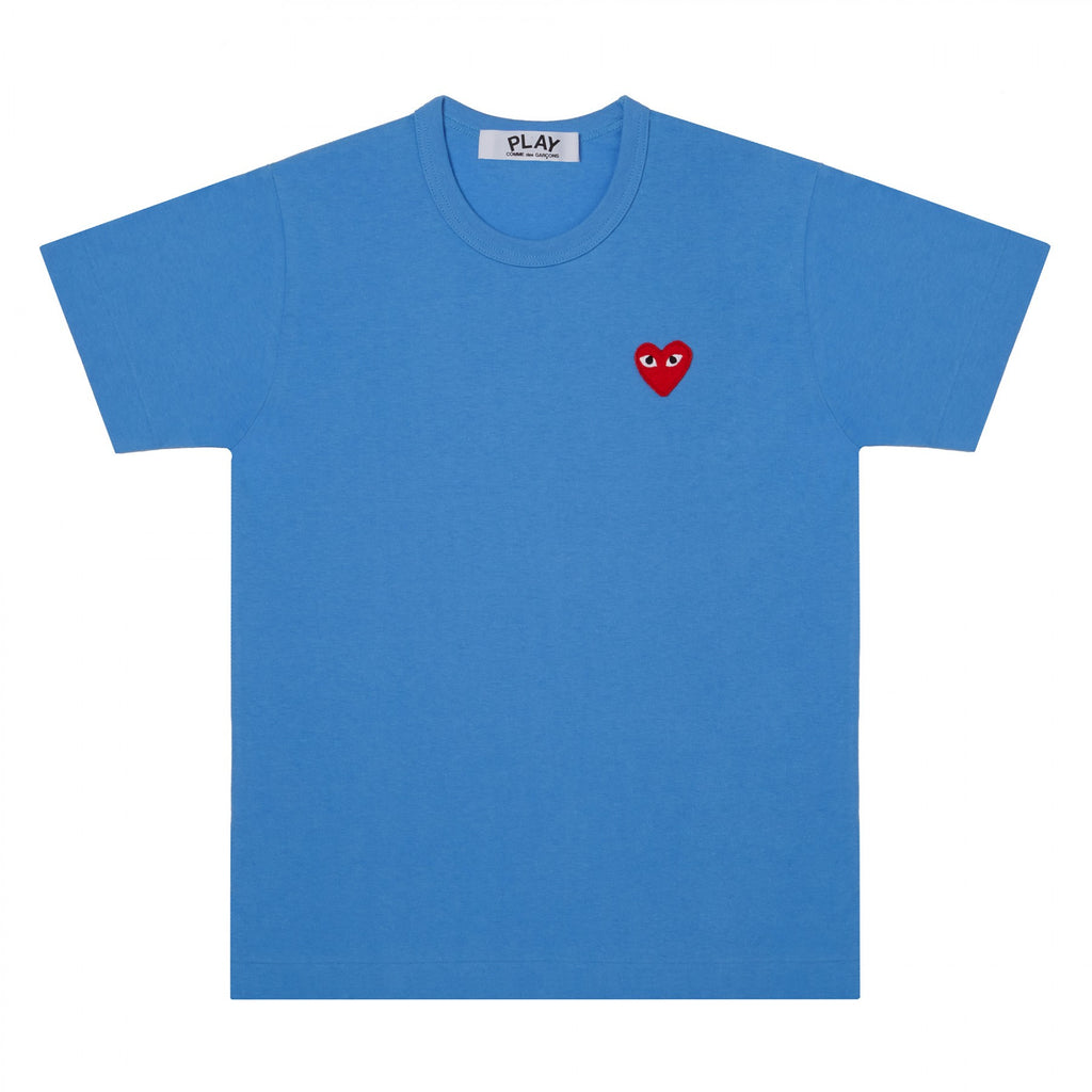 the best streetwear brands urban style and japanese clothing brands at boysco comme des garcons play blue t-shirt with red heart