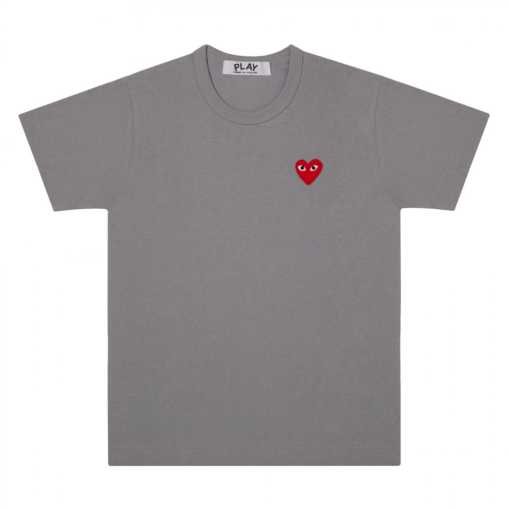 the best streetwear brands urban style and japanese clothing brands at boysco comme des garcons play grey t-shirt with red heart