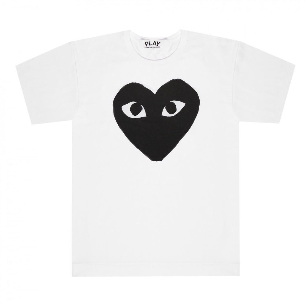the best streetwear brands urban style and japanese clothing brands at boysco comme des garcons play white t-shirt with black heart print