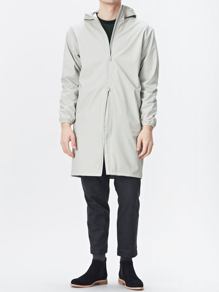 Rains Base Long Jacket in Moon