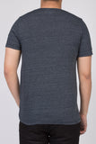 WORKSHOP HEATHERED NAVY SHORT SLEEVE V-NECK TEE  - 3