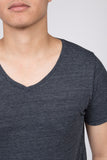 WORKSHOP HEATHERED NAVY SHORT SLEEVE V-NECK TEE  - 4