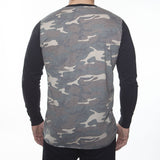 WORKSHOP CAMOUFLAGE LONG-SLEEVE COTTON-BLEND HENLEY  - 3