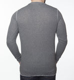 WORKSHOP CHARCOAL LONG-SLEEVE HENLEY  - 4