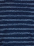 WORKSHOP INDIGO THICK STRIPED HENLEY  - 5