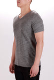 WORKSHOP V-NECK T-SHIRT IN LIGHT HEATHERED GREY  - 2