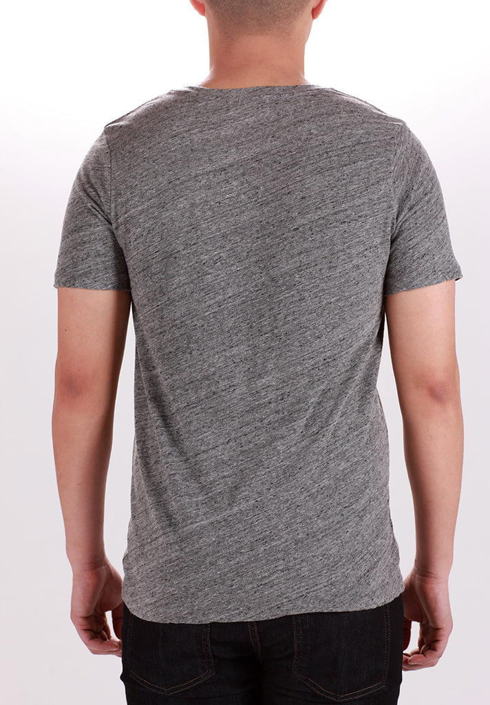 WORKSHOP V-NECK T-SHIRT IN LIGHT HEATHERED GREY  - 3