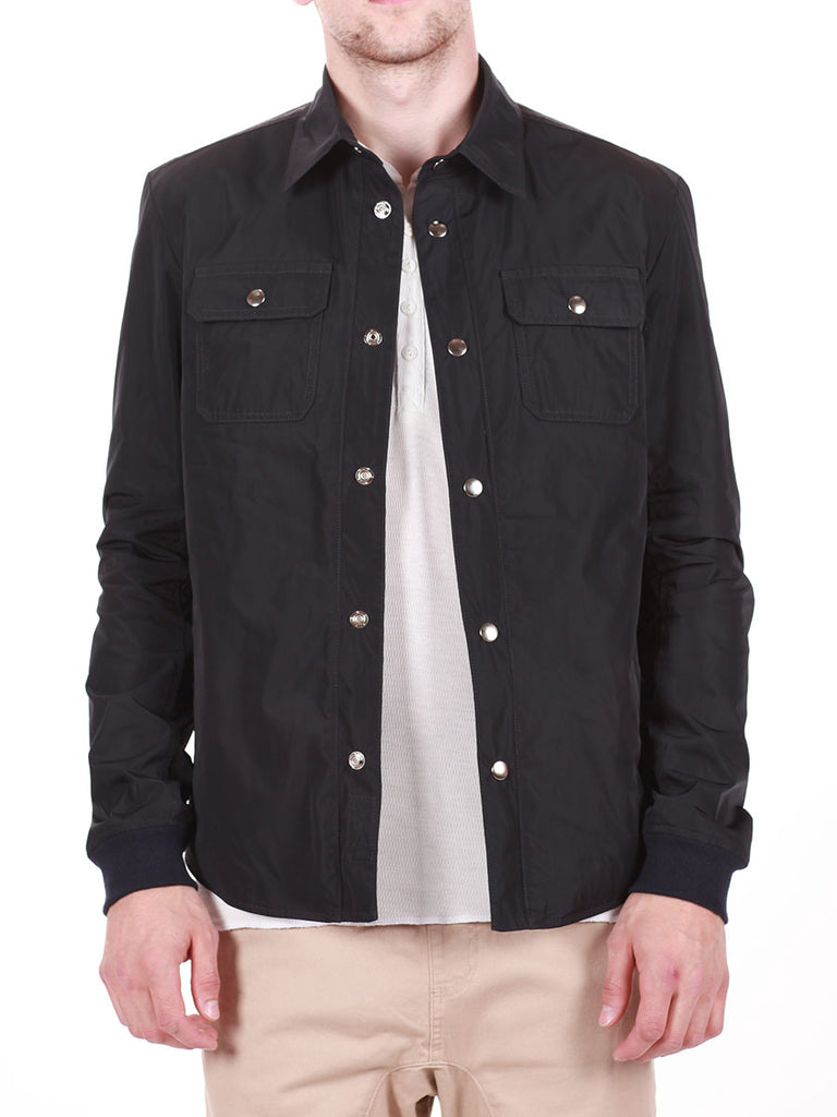 WORKSHOP WATER-RESISTANT SHIRT JACKET IN NAVY  - 1