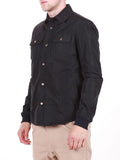 WORKSHOP WATER-RESISTANT SHIRT JACKET IN NAVY  - 3